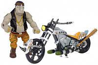 Боевой транспорт с фигуркой TMNT Черепашки-ниндзя Movie 2 Байк и эксклюзивная фигурка Рокстеди 89303