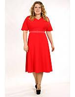 Коктейльное платье большого размера с поясом
