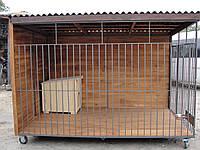Вольер для собаки разборный (8 м.кв), 4х2х1,9 м