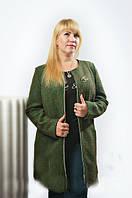 Демисезонное пальто большого размера
