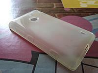 Чехол для Nokia Lumia 525 520 TPU белый прозрачный