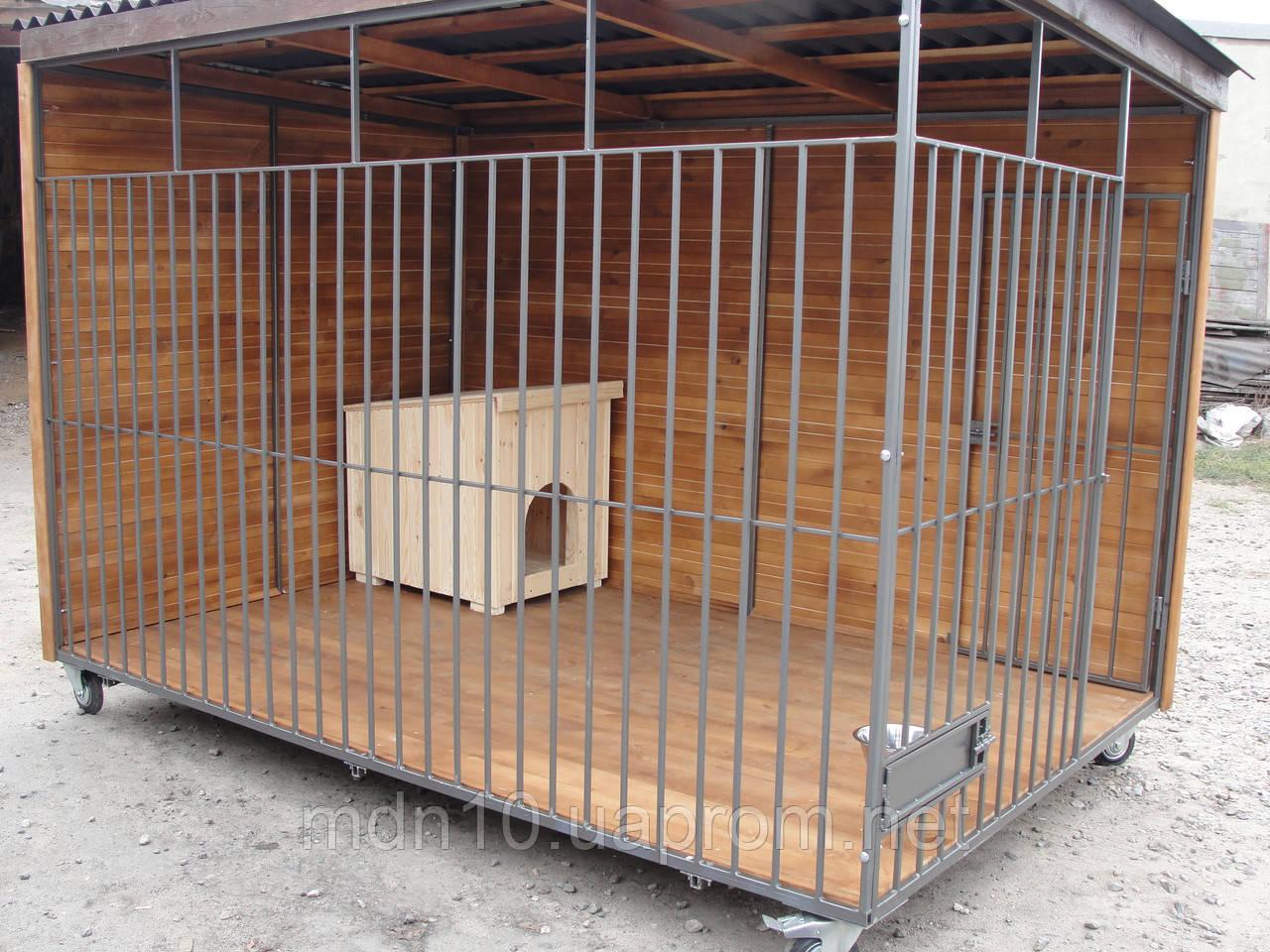 Вольер для собаки разборный (4 м.кв), 2х2х1,9 м