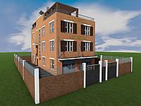 Проект трехэтажной гостиницы со встроенными нежилыми помещениями № 4