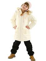 Демисезонное пальто для девочки (оливковое 140, 146)