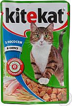 Кітікет Kitekat пауч вологий корм для котів лосось в соусі, 100 г