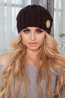 Объемная женская шапка с ушками в 9ти цветах 4418