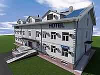 Готовый проект трехэтажной гостиницы на 36 номеров
