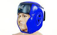 Шлем боксерский в мексиканском стиле Кожа EVERLAST синий