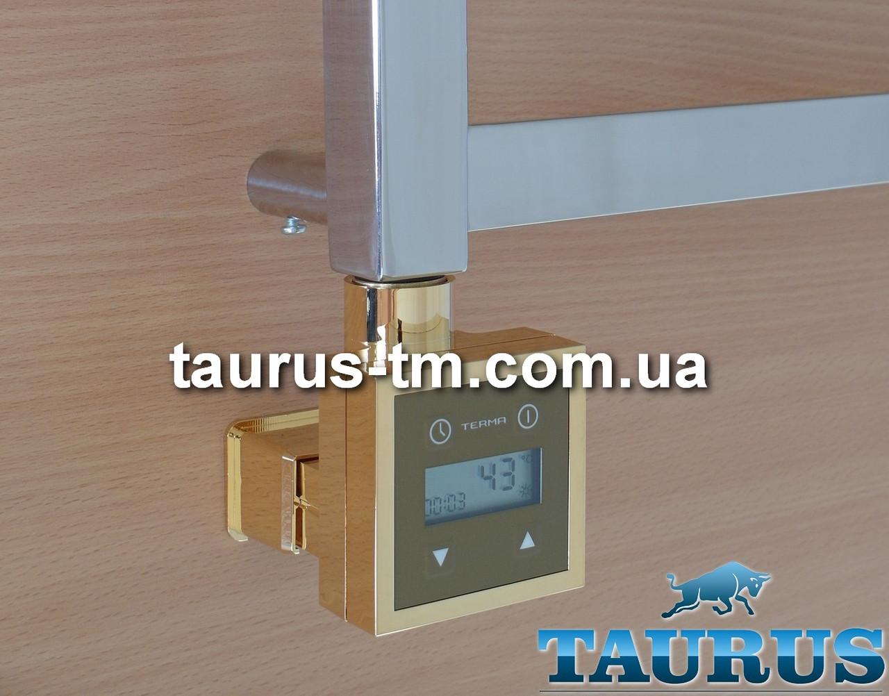 Золотой электроТЭН KTX3 MS Gold квадратный + маскировка, экран LCD, регулятор 30-60C, таймер 24 ч.; 120-1000W