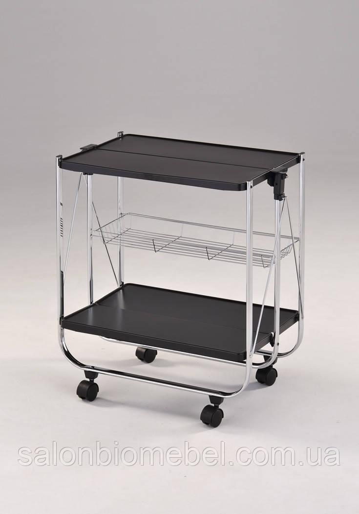 Сервировочный столик складной на колесиках W-67