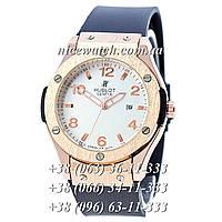 Кварцевые часы Hublot SSB-1012-0204  мужские синие каучуковые без стразов   классика
