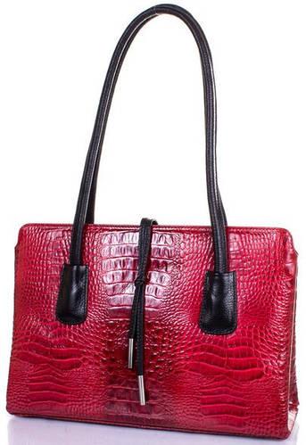 Кожаная гениальная женская сумка DESISAN (ДЕСИСАН) SHI060-580 Красная