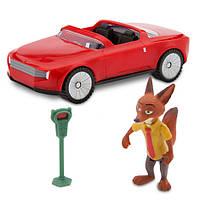 Зверополис Игровой набор Лис Ник Уайлд с автомобилем / Zootopia Disney