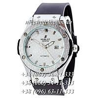Кварцевые часы Hublot SSB-1012-0201  мужские черные каучуковые без стразов   классика
