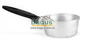 Ковшик алюминиевый 0,8л без крышки с пластмассовой ручкой ПРОЛИС (Ко-0,8-01)