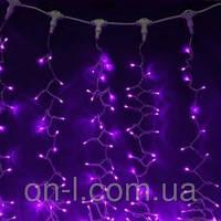 Новогодняя гирлянда DELUX CURTAIN 456LED 2x1.5m, фиолетовая/черный провод, внешняя