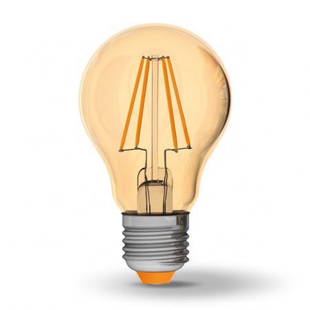 Светодиодная лампа VIDEX 7Вт A60FA/филамент Е27 Теплый белый 2200К бронза