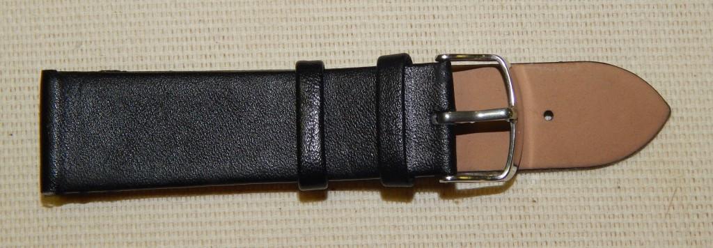 22 Ремешок кожа Torino (Италия) Черный гладкий без строчки