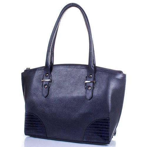 Кожаная деловая женская сумка DESISAN (ДЕСИСАН) SHI7129-315 Черная