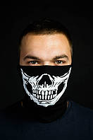 Бафф череп маска на лицо с принтом черная зимняя летняя