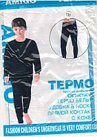 Термо штаны подросток, кальсоны, подштаники с ластовицей  Amigo