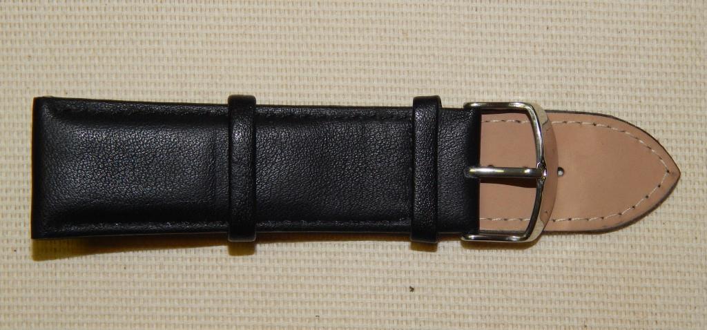 26 Ремешок кожа Torino (Италия) Черный гладкий