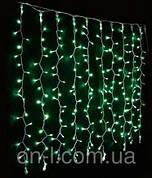 Новогодняя гирлянда DELUX CURTAIN 456LED 2x1.5m, зеленая/черный провод, внешняя