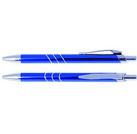 Ручка металлическая шариковая Sky, цвет ручки Синий