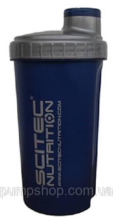 Шейкер Scitec Nutrition 700 мл синій, фото 2