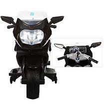 Детский Мотоцикл BMW М 3208 черный, заводится ключом, плавный старт, колеса мягкие EVA, мягкое сиденье, фото 2