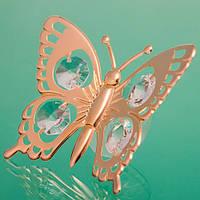 """Липучки на стекло с камнями Swarovski """"Бабочка"""" оригинальные  сувениры"""