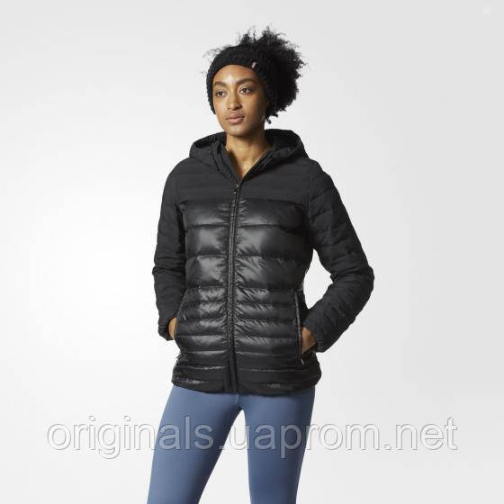 Пуховик женский с капюшоном Adidas Cozy Black AP8689 зима - интернет-магазин Originals - Оригинальный Адидас, Рибок в Киеве