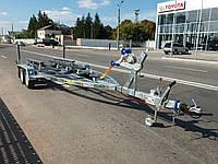 Прицеп для катера XLE Buster 6,9м длина 2т масса. Рессорный. Тормоза!