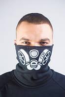 Бафф сталкер маска на лицо с принтом черная зимняя летняя