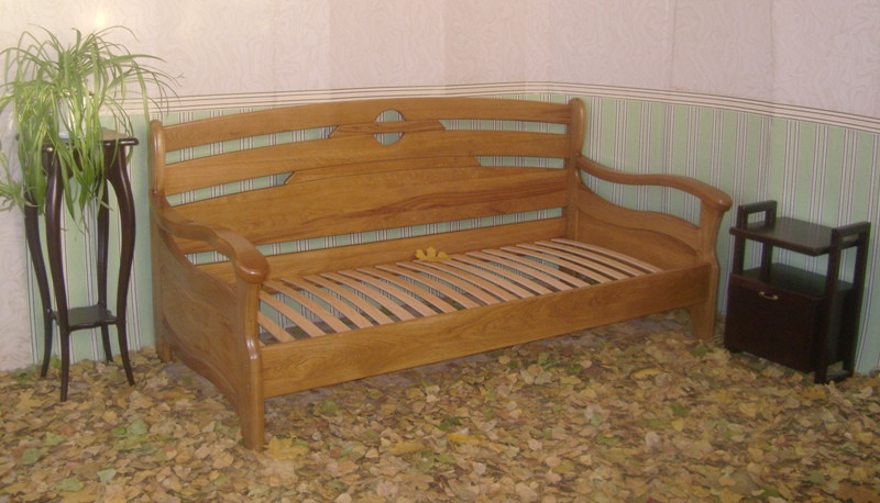"""Дубовый диван-кровать """"Луи Дюпон Люкс."""""""