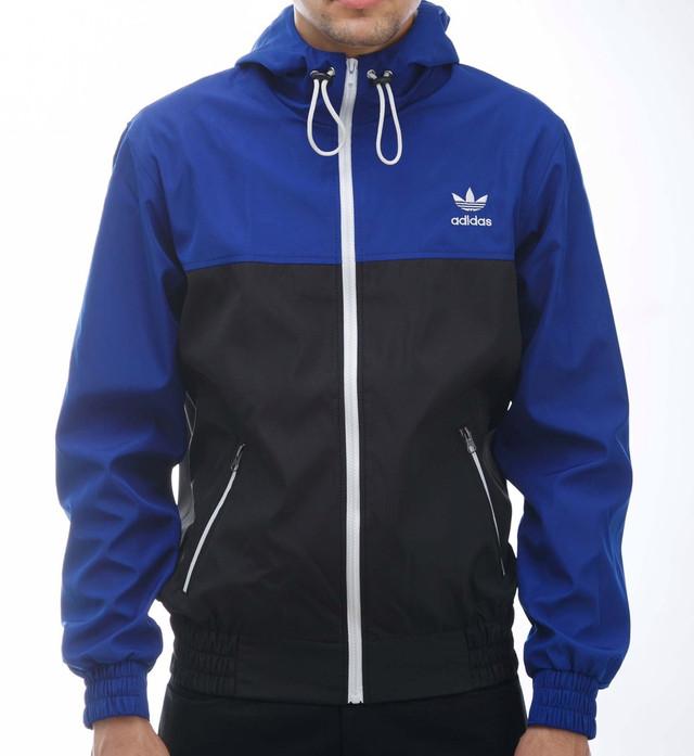 ветровка Adidas,сине-черная