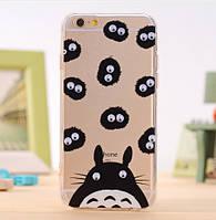 """Жесткий силиконовый чехол с бегающими глазами """"Заяц"""" для Iphone 6/6S"""
