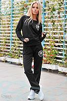 Удобный спортивный костюм. Цвет черный.
