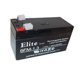 Батарея AK  ELITE LUX  12 V 1,3 AH   .dr