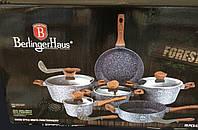 Набор посуды Berlinger Haus Burgundy Metallic Line BH-1168 с деревянными ручками