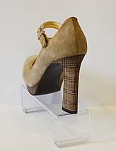 Бежевые женские туфли A.J.F. 513, фото 3