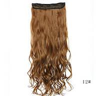 Волосы натуральные на заколках цвет русый 60 см