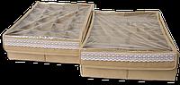 Комплект органайзеров (2шт) для нижнего белья,с крышками. цвет Бежевый