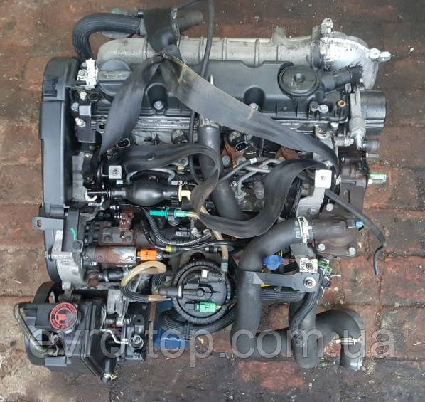 Двигун голий DW10TD, RHY б/у 2.0 HDi на Citroen Berlingo, Peugeot Partner (66 кВт, 90 лз) 1999-2008