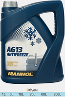 Антифриз Mannol Hightec Antifreeze AG13 концентрат зеленый 5л