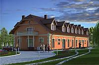 Готовый проект двухэтажной гостиницы на 16 номеров