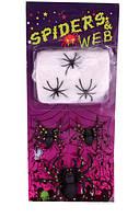 Паутина декоративная с пауками - декор на хэллоуин!