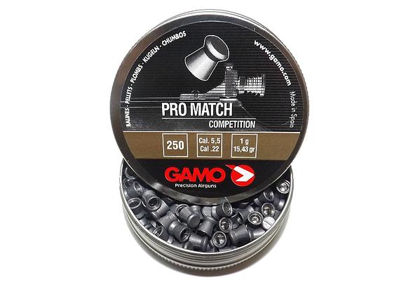 Gamo Pro Match 5.5 мм 250 шт 1 г. Пневматические пули Gamo Pro Match, плоские. 5 5мм пули Gamo , фото 2