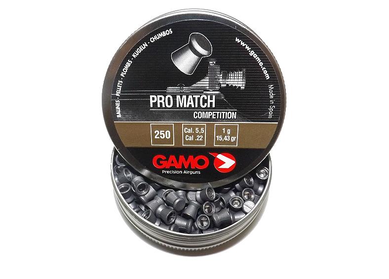 Gamo Pro Match 5.5 мм 250 шт 1 г. Пневматические пули Gamo Pro Match, плоские. 5 5мм пули Gamo  - Интернет магазин подарков и товаров для дома «Жораппа в Харькове