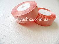 Лента атласна 2,5см  рожева-пудра